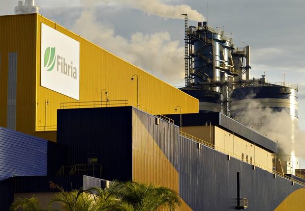 Unidade de produção de celulose da Fibria em Três Lagoas (Foto: Divulgação)