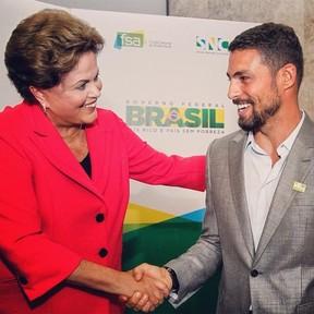 Dilma Roussef e Cauã Reymond (Foto: Divulgação/Ricardo Stucker)