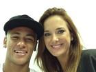 Neymar grava programa com Ticiane Pinheiro e a elogia: 'Gente fina demais'