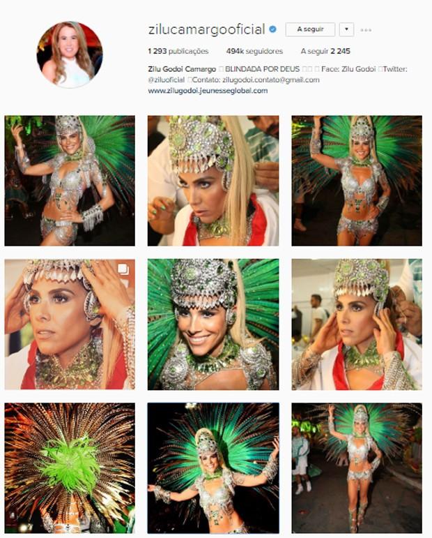 Zilu Godói fez vários posts de Wanessa Camargo após desfile (Foto: Reprodução/Instagram)