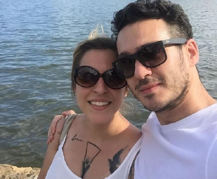 Júlia Rabello diz que ela e Marcos Veras são loucos por trabalho (Foto: Arquivo Pessoal)