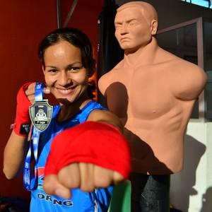 Sandra Ramos, campeã brasileira de boxe (Foto: Divulgação/Emanuel Mendes)