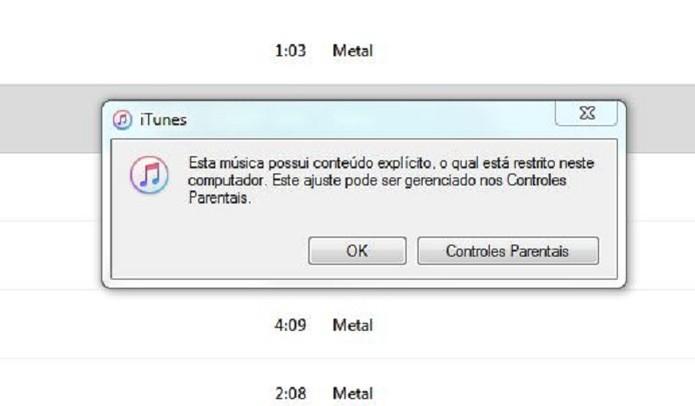 Apple Music também bloqueia músicas com palavrões no Windows e Mac (Foto: Reprodução/Felipe Alencar)