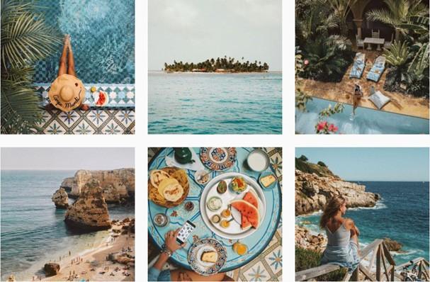 Feed organizado djá (Foto: Reprodução Instagram @anna.laura)