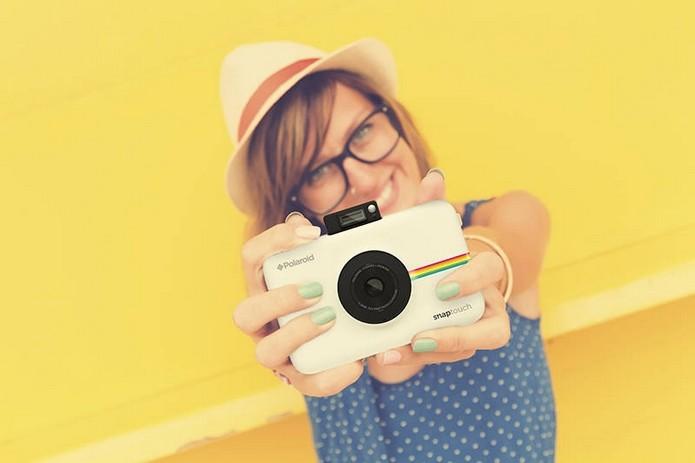 7baf309215137 Snap Touch, nova câmera instantânea com Bluetooth da Polaroid (Foto   Divulgação Polaroid