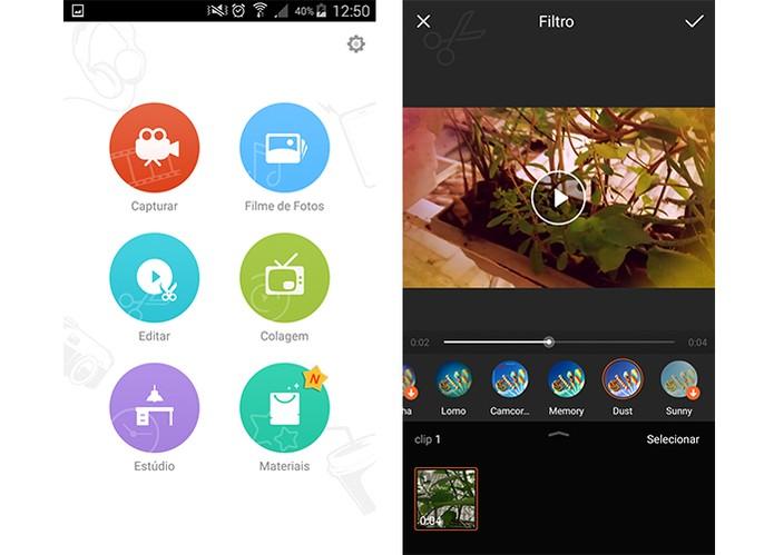 VivaVideo tem dezenas de filtros para adicionar (Foto: Reprodução/Barbara Mannara)