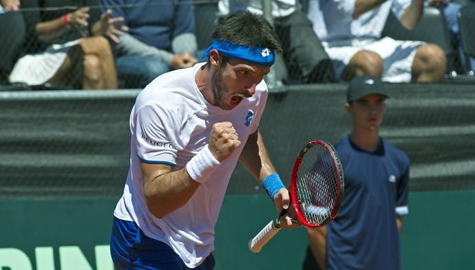 copa davis Tênis Mayer x Feijão (Foto: AFP)
