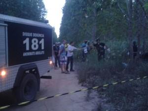 Corpo foi encontrado em plantação de eucalipto no espírito santo (Foto: Divulgação/Polícia Militar)