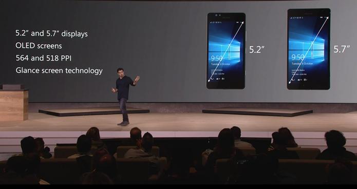 Lumia 950 e 950 XL têm tela de tamanhos diferente e também processadores distintos (Foto: Reprodução/Microsoft)