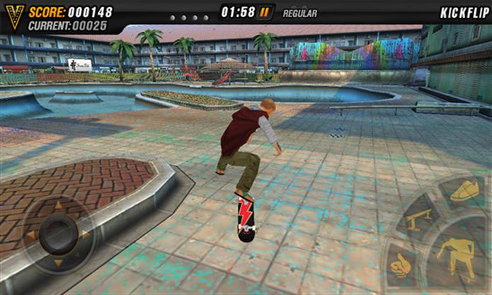 Mike V: Skateboard Party traz manobras radicais e controles apurados para o seu Windows Phone (Foto: Divulgação/Windows Phone Store)