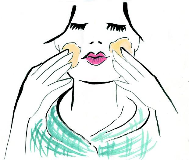 Desenho de mulher com cremes (Foto: Naíma Saleh)