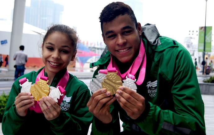 medalhistas brasil jogos olimpicos da juventude nanquim (Foto: Thierry Gozzer)