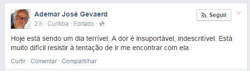 Ademar José Gevaerd, pai do ex-BBB Daniel (Foto: Facebook / Reprodução)