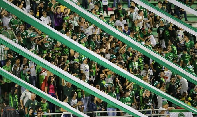 Torcida Chapecoense x Nacional (Foto: Cristiano Andujar/Getty Images)