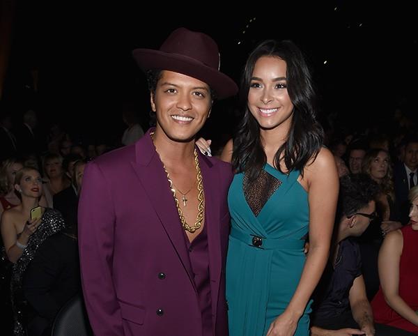 Bruno Mars e Jessica Caban (Foto: Getty Images)