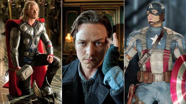 'Thor', 'X-Men: Primeira Classe' e 'Capitão América: O Primeiro Vingador' estão na programação de filmes  (Foto: Divulgação)