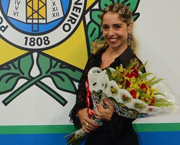Monica Areal em sua posse como delegada (Foto: Arquivo Pessoal)