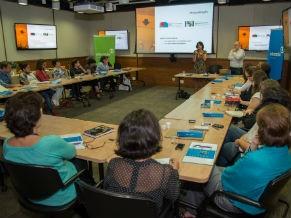 Jornalistas reunidos no Diálogos Educação  (Foto: Divulgação/Kiko Cabral)