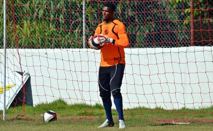 Marcão goleiro Tricordiano (Foto: Régis Melo)