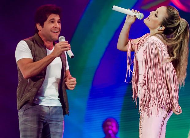 Larissa Manoela e Daniel, convidado especial do DVD (Foto: Manuela Scarpa/Brazil News)