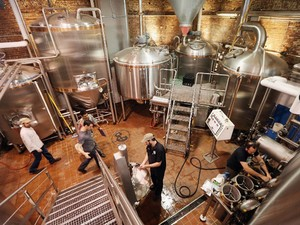 A Brooklyn Brewery, cervejaria em Nova York (Foto: Mario Tama/Getty Images North America/AFP)