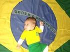 Xuxa tira foto da filha, Brenda, sobre a bandeira do Brasil: 'Orgulho'