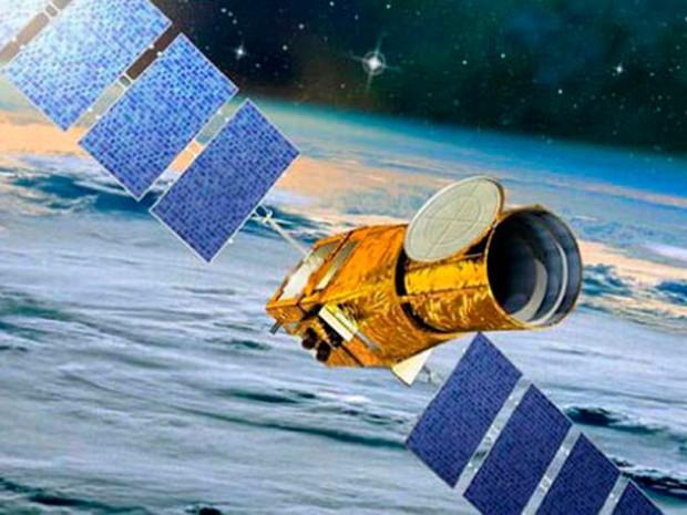 Imagem do satélite que captou as imagens do CoRoT Sol 1 (Foto: Reprodução/DFTE-UFRN)