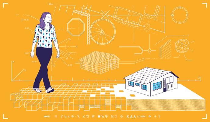 Moça de 22 anos cria startup que promete baratear construções em até 80%