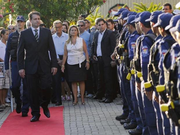 Prefeito de Vitória, Luciano Rezende, na cerimônia de posse em 2013 (Foto: Gabriel Lordêllo / Arquivo A Gazeta)