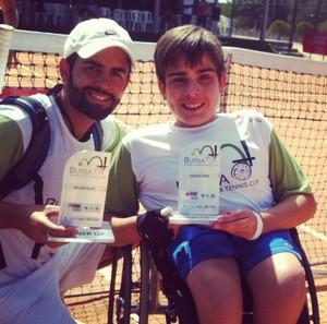 Fábio Bernardes tenista cadeirante Uberlândia tênis em cadeira de rodas Raphael Oliveira técnico (Foto: Raphael Oliveira/Arquivo pessoal)