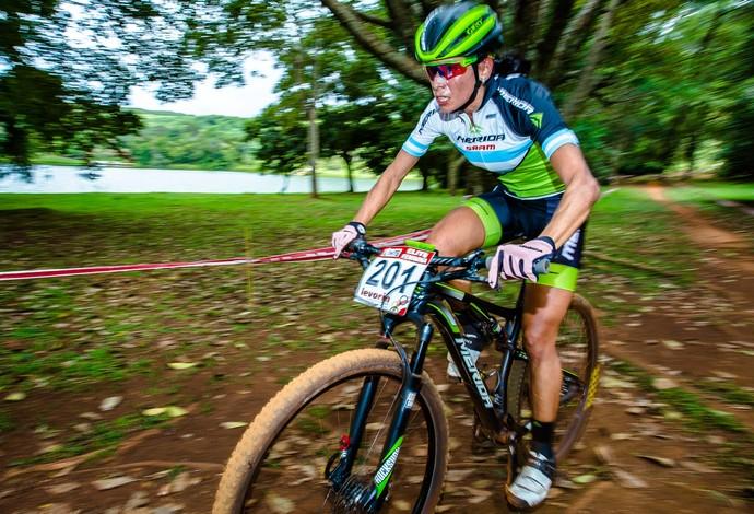 Agustina Apaza, argentina, contrarrelógio, Araxá, CIMTB (Foto: Thiago Lemos/Pedal.com.br)