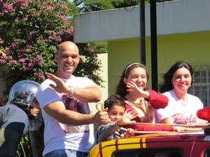 Pérola Crepaldi foi homenageada com carreata em Apucarana  (Foto: Arquivo pessoal)
