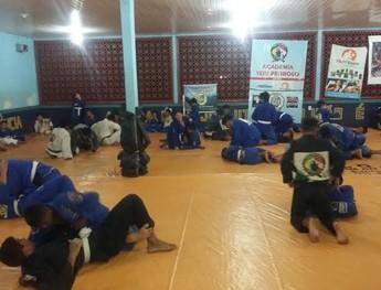 """Projeto social """"Jiu-jítsu Messias"""", atende 80 crianças e adolescente (Foto: Divulgação/ Projeto social """"Jiu-jítsu Messias"""")"""