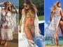 Saída de praia com transparência e fendas é hit entre famosas no verão
