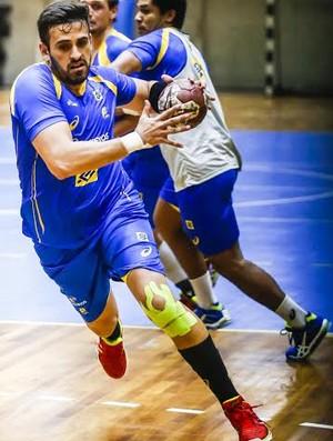 Zeba é o capitão da seleção brasileira de handebol (Foto: Wander Roberto/Photo&Grafia)