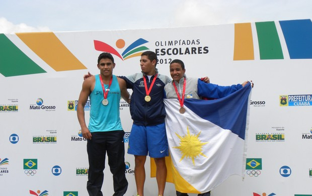 Leonardo Cunha é prata nos 100 metros nas Olimpíadas Escolares (Foto: Marconni Lima/Seduc)