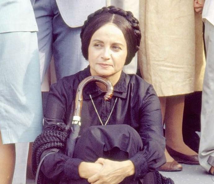 Joana Fomm como a viúva Perpétua em Tieta (1989) (Foto: Memória Globo)