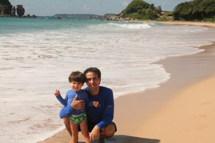 Danilo França e o filho Guilherme