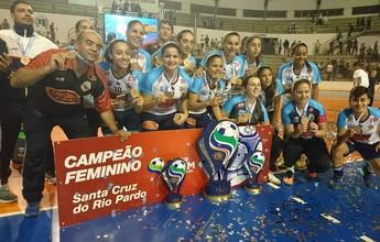Santa Cruz goleia Ourinhos e é tetracampeã da Copa TV TEM
