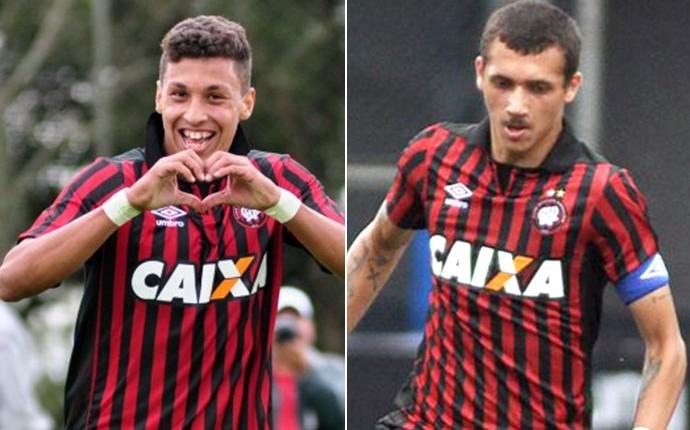 Bruno Mota e do atacante Cryzan Atlético-pr (Foto: Divulgação / Site oficial Atlético-PR)