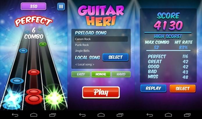 Game permite tocar músicas armazenadas no Android (Foto: Divulgação)