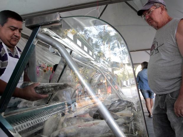 Feiras do peixe de Porto Alegre venderam 366 toneladas do produto em 2015 (Foto: Ivo Gonçalves/PMPA)