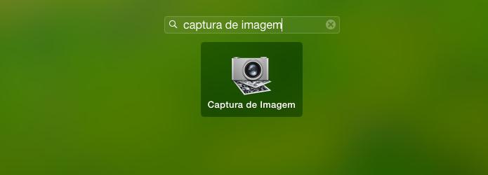 Executando o aplicativo Captura de Imagem (Foto: Reprodução/Edivaldo Brito)