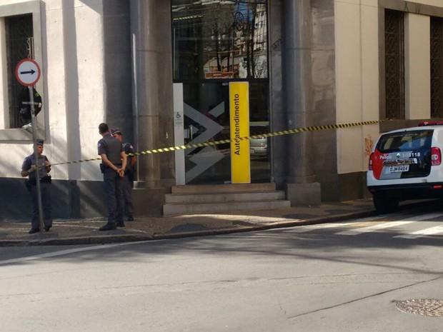 Agência do Banco do Brasil é assaltada no centro de Campinas  (Foto: Katia Zen/ Arquivo pessoal)
