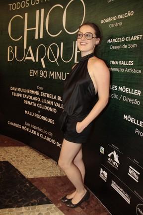 Alessandra Maestrini em estreia de peça no Rio (Foto: Isac Luz/ EGO)