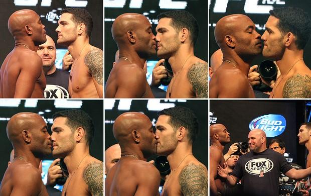 montagem Anderson Silva pesagem UFC 162 Chris Weidman (Foto: Evelyn Rodrigues)