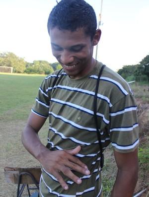 Lucas, goleiro do Enxuga Rato (Foto: Emanuele Madeira/GLOBOESPORTE.COM)