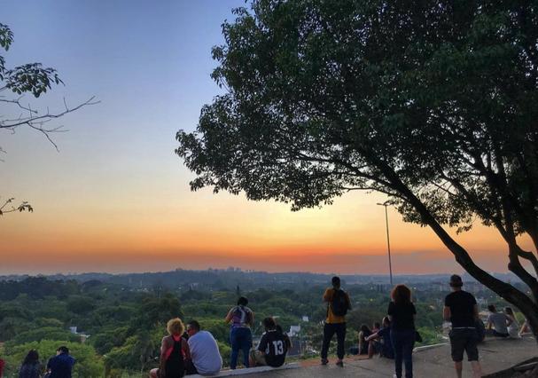 Praça do Pôr do Sol, em São Paulo (Foto: Reprodução Instagram @giulianolobianco)