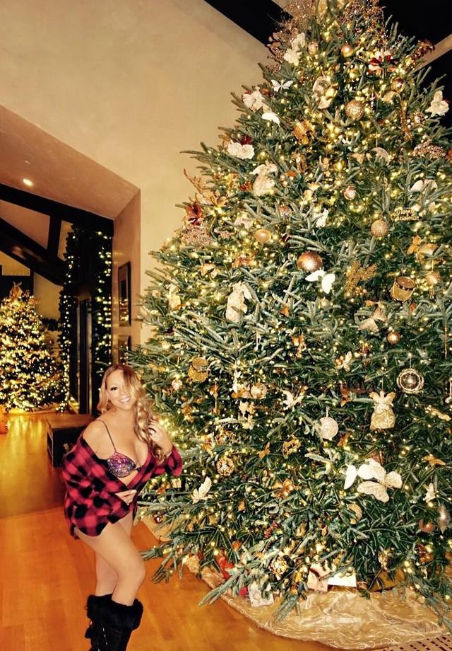Mariah Carey em Aspen (Foto: Reprodução)