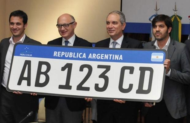 Modelo de placa do Mercosul (Foto: Divulgação )